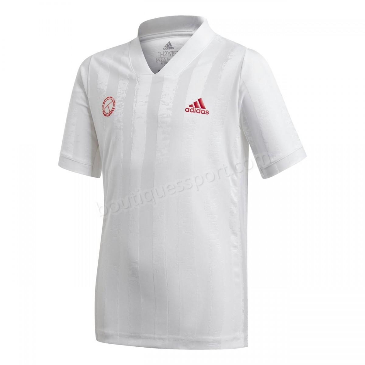 Tennis enfant ADIDAS T-shirt junior adidas Printed Freelift Soldes - Tennis enfant ADIDAS T-shirt junior adidas Printed Freelift Soldes