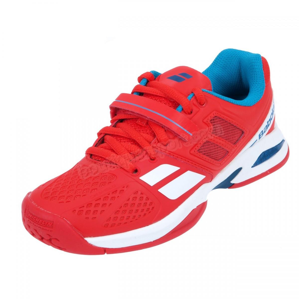 Tennis garçon BABOLAT Chaussures tennis Propulse bpm jr rouge Soldes - -1
