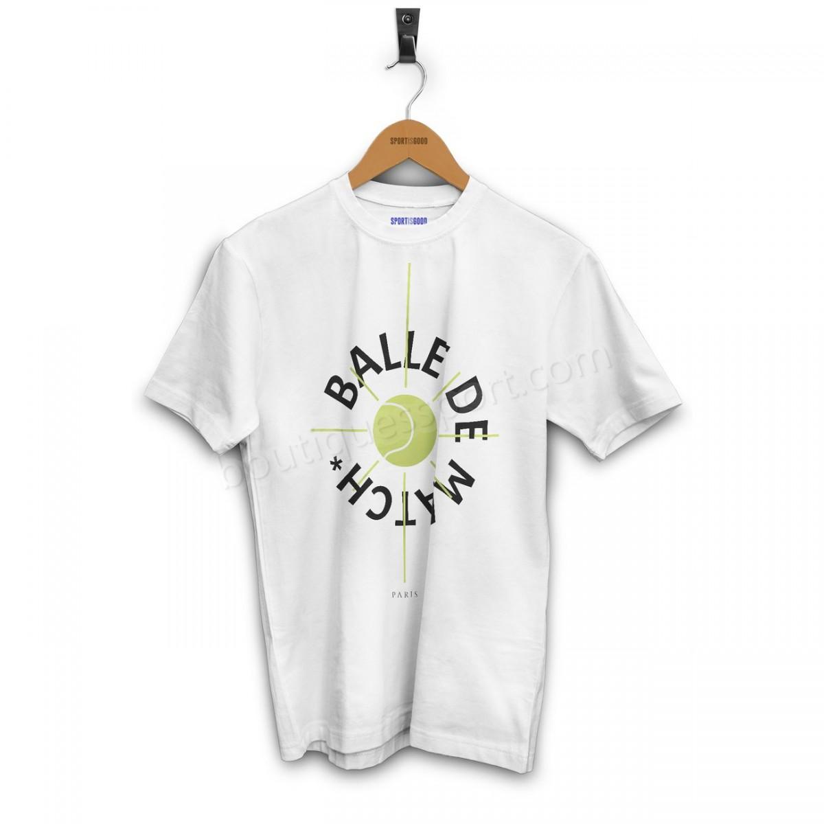 Tennis homme SPORT IS GOOD T-shirt Balle de match Soldes - -2