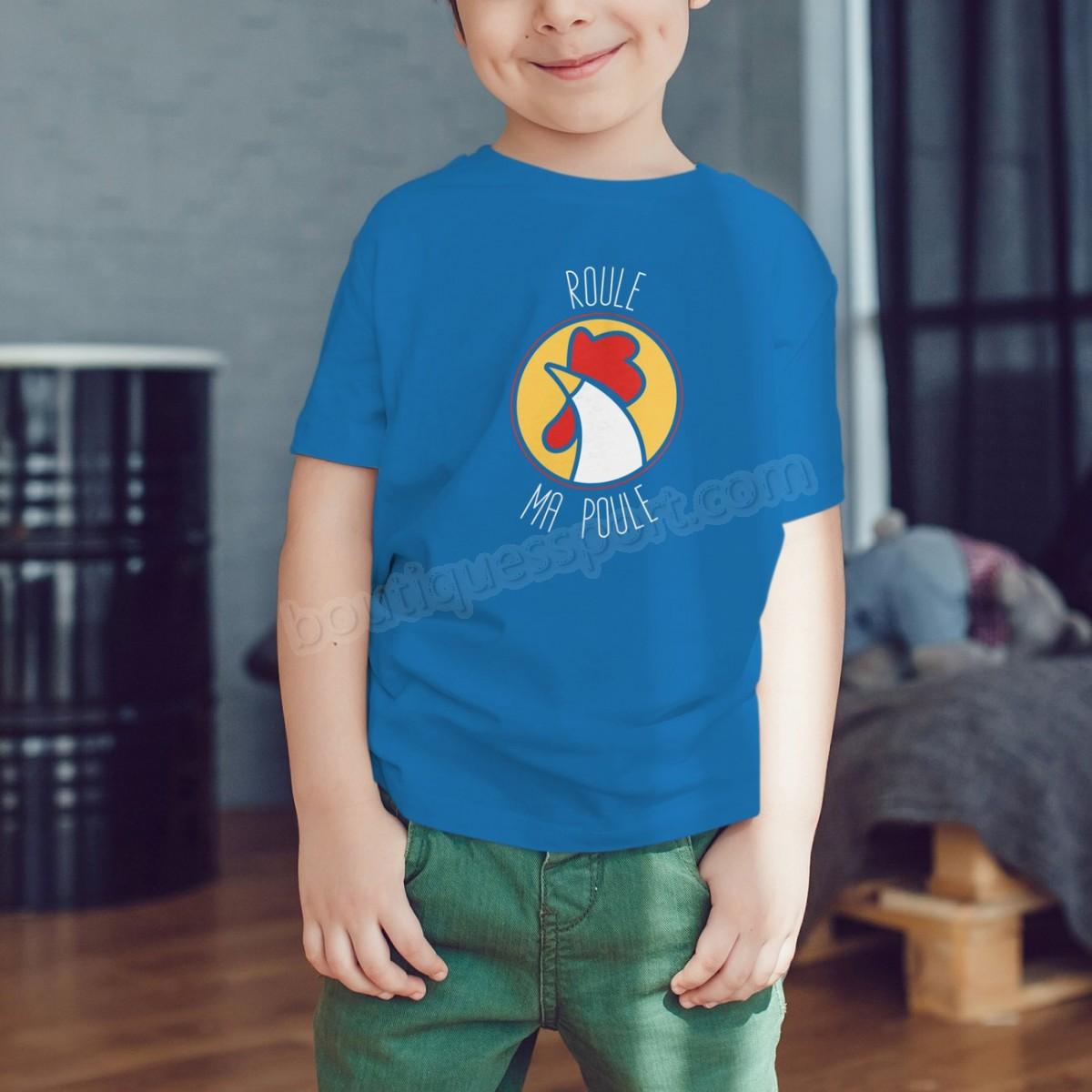 Tennis garçon SPORT IS GOOD T-shirt garçon Roule ma poule Soldes - -5